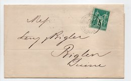 - Lettre COMPAGNIE IMPÉRIALE ROYALE DES BATEAUX A VAPEUR, MARSEILLE Pour BIGLEN (Suisse) 25 FEVR 1882 - - Postmark Collection (Covers)