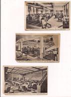 """Paquebot """"Champlain """": 3 Cartes: Grand Salon, Grand Hall,la Salle à Manger, Classe Cabine - - Paquebots"""