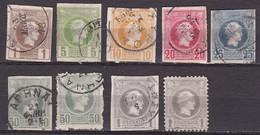 GREECE 1886-1888 Small Hermes Head Belgian Print 9 Values To1 Dr. Between Vl. 76 - 87 - Gebraucht