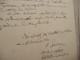 JULES DESNOYERS Archéologue Géologue LAS Autographe Signée 15/06/1884 Recommandation - Autographes