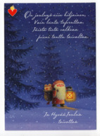Postal Stationery HEART ASSOCIATION - FINLAND - Postage Paid - CHRISTMAS - USED  - GNOME / LUTIN - Artist EVA MELHUISH - Interi Postali