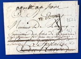 1757 Lettre De ROUEN Pour Le Havre Seine Inférieure - Storia Postale