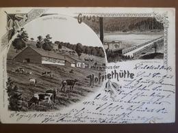 LITHO FERME AUBERGE DU HOFRIETHUTTE 1901 N&B AU DEPART DE LINTHAL GUEBWILLER - France