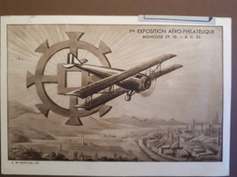 1ère Expo Aero-philatelique Mulhouse 1932 VOL SPECIAL MULHOUSE STRASBOURG POSTE AERIENNE - Mulhouse