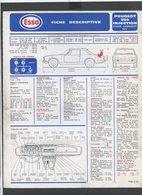 VOITURE COLLECTION......FICHE TECHNIQUE + PLAN DE GRAISSAGE.......PEUGEOT 504 INJECTION - Cars