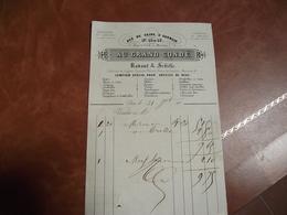 Paris, Facture, AU GRAND CONDE, 185?, Rue De Seine, Fb ST Germain, Trousseau Et Layette - France