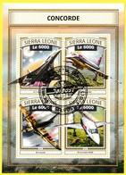 Bloc Feuillet Oblitéré - Concorde - Sierra Leone 2016 - Sierra Leone (1961-...)