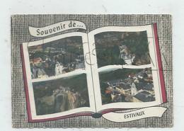 Estivaux (19) : 4 Vues  Générales Aériennes Dans Livre Dont Vue Sur Le Quartier De La Gare  Environ 1966 GF. - Francia