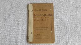 Soldbuch II Rekruten Batterie Fußartl. Regt. Nr. 9 1914  1 WK Militär - 1914-18