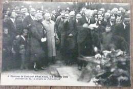 CPA FROSSAY 44 Obsèques De L'Aviateur MENEYROL Le 8 Octobre 1923 Discours Du Maire Loire Atlantique Inférieure - Frossay