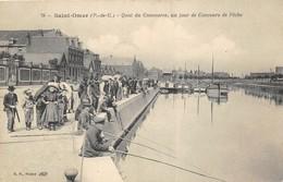 Saint-Omer. Quai Du Commerce, Un Jour De Concours De Pêche. 2 SCANS - Pêche