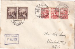 ALLEMAGNE 1938 LETTRE DE FRIEDRICHSHAFEN  SCHIFFSPOST AUF DEM BODENSEE - Germany