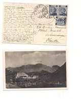 3456) MICHETTI 20 Su 25c X 3 Azzurro Puri Bormio X Olanda 1925 Card Stelvio - Storia Postale