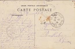 CP (Le Croisic, La Plage) Obl Le Croisic Le 10/11/15 Pour Bruffioles + Cachet Hôpital Temporaire Le Croisic - Oorlog 1914-18