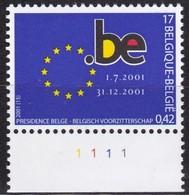 Belgien, 2001, 3064, MNH **, Vorsitz Belgiens In Der Europäischen Union. - Belgique