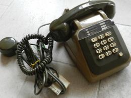 TELEPHONE S 63 CADRAN SOCOTEL MARRON Fonctionne Avec Une Box Testé - Téléphonie
