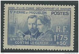 Saint Pierre Et Miquelon N° 166 X :  Pierre Et Marie Curie Trace Charnière Sinon TB - St.Pierre & Miquelon