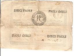 10 Paoli Repubblica Romana Anno 7 Retro Cerchio Biglietto Naturale  LOTTO 3155 - Italië