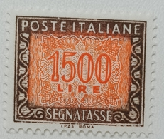 FRANCOBOLLO NUOVO REPUBBLICA 1955 LIRE 1500 SEGNATASSE - SASSONE- 1-125 - Segnatasse