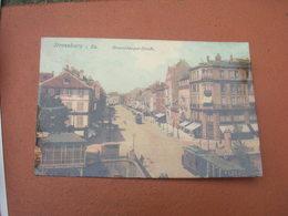 Cpa 9x14 DD NV Strasbourg Kronenburger Strasse Avenue Tramway Carte Allemande Glacée Etat Correct - Strasbourg