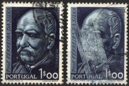 PORTUGAL, 1956, PROF. DOUTOR FERREIRA DA SILVA, CE#819, O, ERROR - Variétés Et Curiosités
