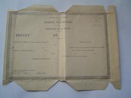 MARINE NATIONALE : EQUIPAGES DE A FLOTTE / BREVET 1925 - Bateaux