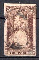 VICTORIA - (Colonie Britannique) - 1852-54 - N° 5 - 2 P. Gris-brun - (Victoria) - Oblitérés