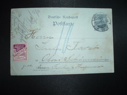 CP RP EP GERMANIA 2 OBL.2 11 00 BERLIN + VIGNETTE EXPOSITION UNIVERSELLE PARIS 1900 LONGINES GRAND PRIX - Germany