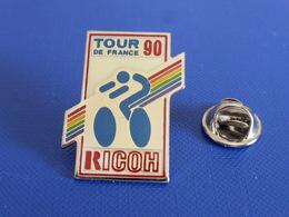 Pin's Le Tour De France 90 Ricoh - Informatique - Vélo Cyclisme Course (PN29) - Radsport