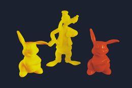 3 Figurines Disney  Dingo + Panpan Marque Linde - Disney