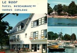 """CPM - VANNES - CONLEAU - """"Le Roof"""" Hôtel-Restaurant - Edition Jos Le Doaré / N°R-648 - Vannes"""