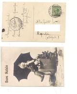 3527) Michetti 20c Verde 23-12-1925 Isolato Annullo SAN CHIRICO NUOVO POTENZA Card Buon Natale - 1900-44 Vittorio Emanuele III