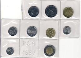 San Marino 1987 1+2+5+10+20+50+100+200+500 Lire Fdc - San Marino