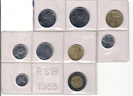 San Marino 1988 1+2+5+10+20+50+100+200+500 Lire Fdc - San Marino
