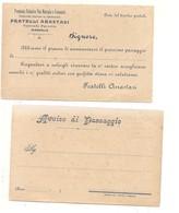 3552) Cartolina Privata Testatina Pubblicitaria ANASTASI Vini MARSALA Trapani - Marsala
