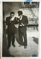 №102  Photography Of  Men Eat On The Sidewalk- Sofia  1957, Old FOTO PHOTO - Anonymous Persons