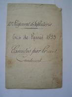 CHAMP DE TIRS : Résultats De Tirs Au Fusil / 12 ème REGIMENT INFANTERIE à PERPIGNAN 1893 - Documenti
