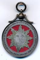 J91 - Médaille En Argent - 3e Bureau De Bienfaisance Des Peigneurs De Chanvres De Grenoble - 14 Gr - Professionals / Firms