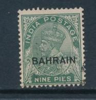 BAHRAIN, 1933 9Ps Fine Used, Cat GBP 6.5 - Bahrein (...-1965)