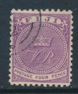 FIJI, 1878 4d P11x11.75 Fine Used, SG58a, Cat GBP 7 - Fiji (...-1970)