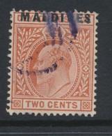 MALDIVES, 1906 2c Used Fine Used, SG1, Cat GBP 50 - Maldiven (...-1965)