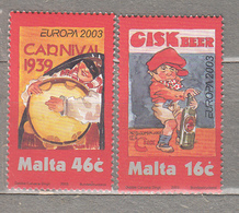 EUROPA CEPT 2003 Poster Malta Mi 1274 - 1275 MNH (**) #19590 - 2003