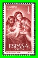 ESPAÑA SELLO AÑO 1959 NAVIDAD - 1951-60 Nuevos & Fijasellos