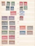Deutsches Reich  - 1923/24 - Sammlung  - Gest./Ungebr./Postfrisch - Gebraucht