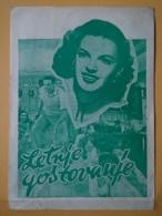 Prog 1 - SUMMER STOCK, Judy Garland; Gene Kelly, Yugoslavian Programme,25 X 17 CM - Cinema Advertisement