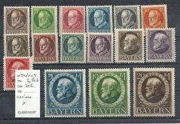 Bavière YT 94 à 109 Sur Charnière Cote 20€ - Bavière