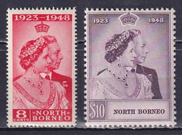 NORTH BORNEO 1948, SG# 350-351, CV £35, Silver Wedding, MNH - Borneo Septentrional (...-1963)