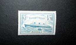 FRANCE 1936 N°300 * (PAQUEBOT NORMANDIE. 1F50 BLEU CLAIR) - Nuevos