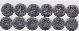Burundi - Set 6 Coins 5 Francs 2014 Bird UNC Lemberg-Zp - Burundi