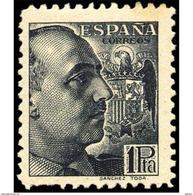 ES875FT-LFT875STEUESTANSC.España Spain.Espagne GENERAL FRANCO.lote SANCHEZ-TODA 1939 (875**) Sin Charnela MAGNIFICA - 1931-Hoy: 2ª República - ... Juan Carlos I